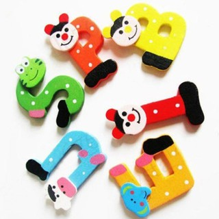 26Pcs Wooden Cartoon Alphabet A-Z Magnet Child Educational Toy Animal Pattern