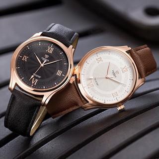 Đồng hồ nam YAZOLE 426 dây da chính hãng cao cấp Fullbox chống nước tốt AH477 thumbnail