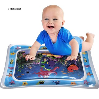 Cartoon Inflatable Water Mat Infant Toddler Growth Stimulate Tummy Time Play Pad