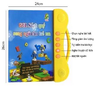 [Giá sập sàn]Combo bộ Sách nói song ngữ Anh Việt cho bé__H3C