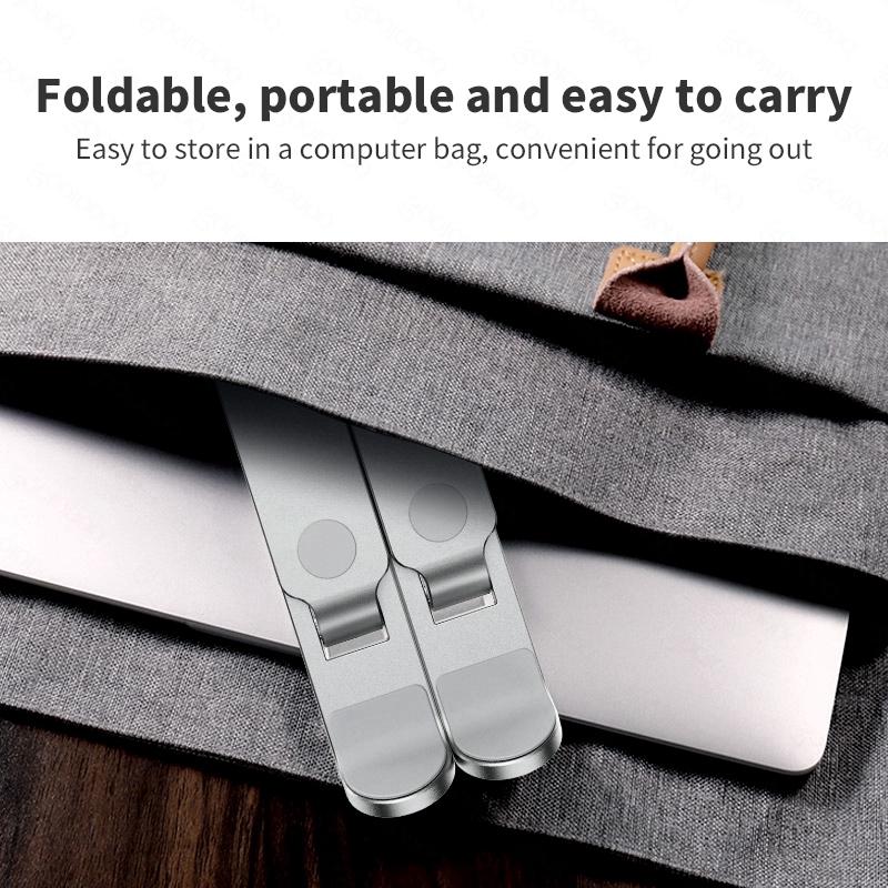 Giá đỡ laptop GOOJODOQ bằng hợp kim nhôm có thể gấp gọn được tiện lợi