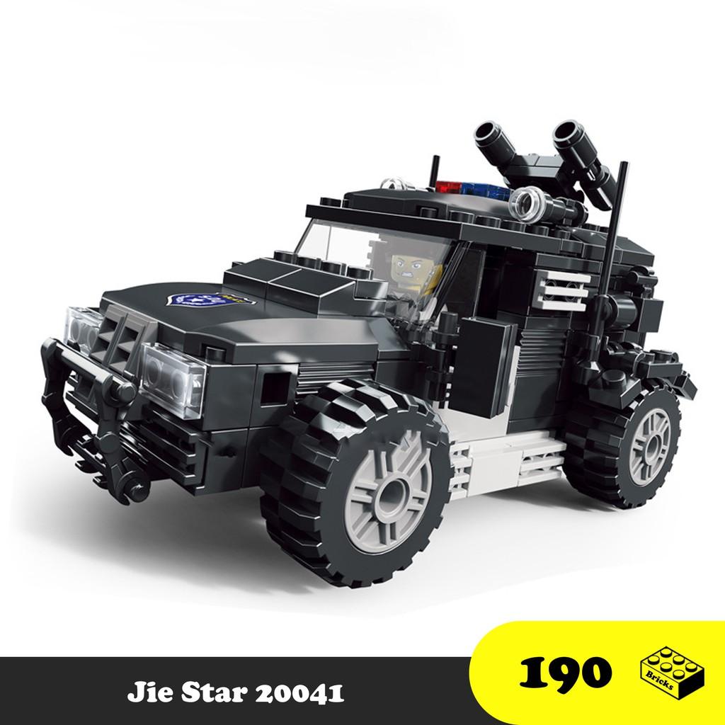 Đồ chơi lắp ráp xe cảnh sát đặc nhiệm - Jie Star Police Car S.W.A.T  20041-42 - Đồ chơi xếp hình trí tuệ