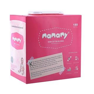 Khăn cotton đa năng Mamamy (180 tờ)