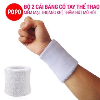 Băng cổ tay thể thao nam thoáng khí Bộ 2 cái (WHITE) thấm mồ hôi, mềm mại, bảo vệ cổ tay thumbnail