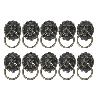2 Sets of Drawer Cabinet Lion Head Handle Knobs with Drawer Ring Door Rings Handle Knobs for Home