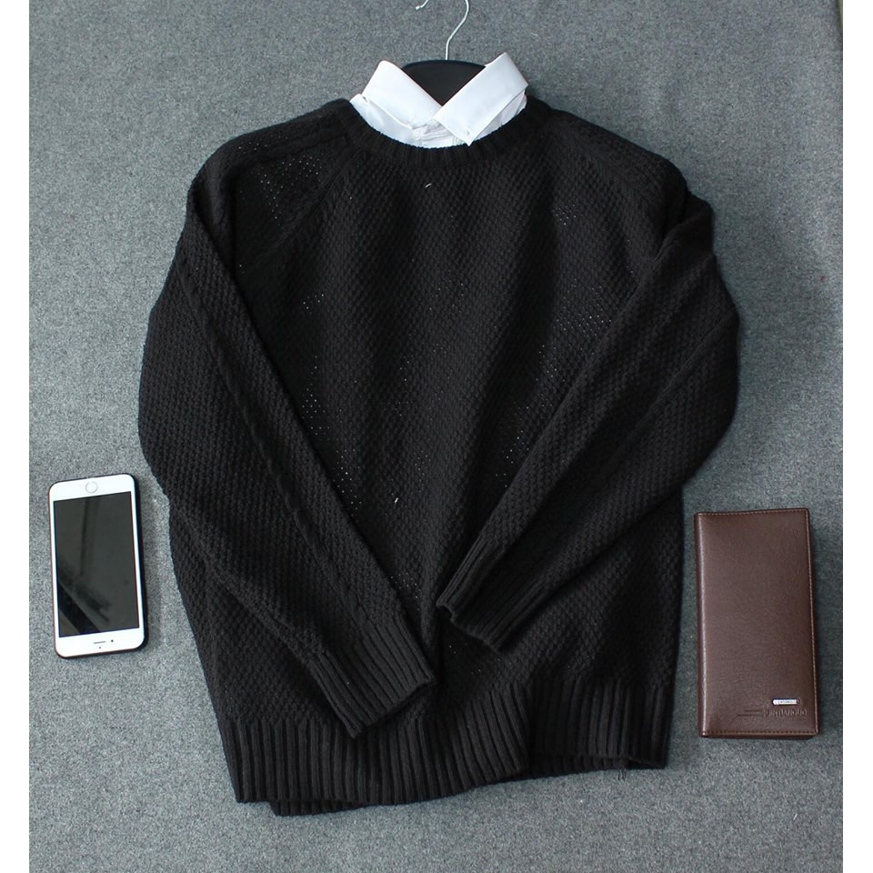 Áo Len Nam màu đen