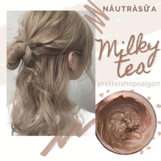 [kèm Trợ Nhuộm Ủ tóc] Kem nhuộm tóc màu NÂU TRÀ SỮA