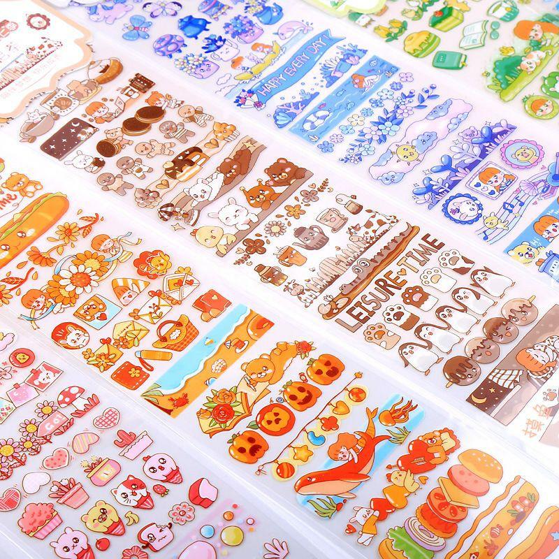 Sticker Dán Trang Trí Sổ Tay Hình Cô Gái Hoạt Hình Dễ Thương