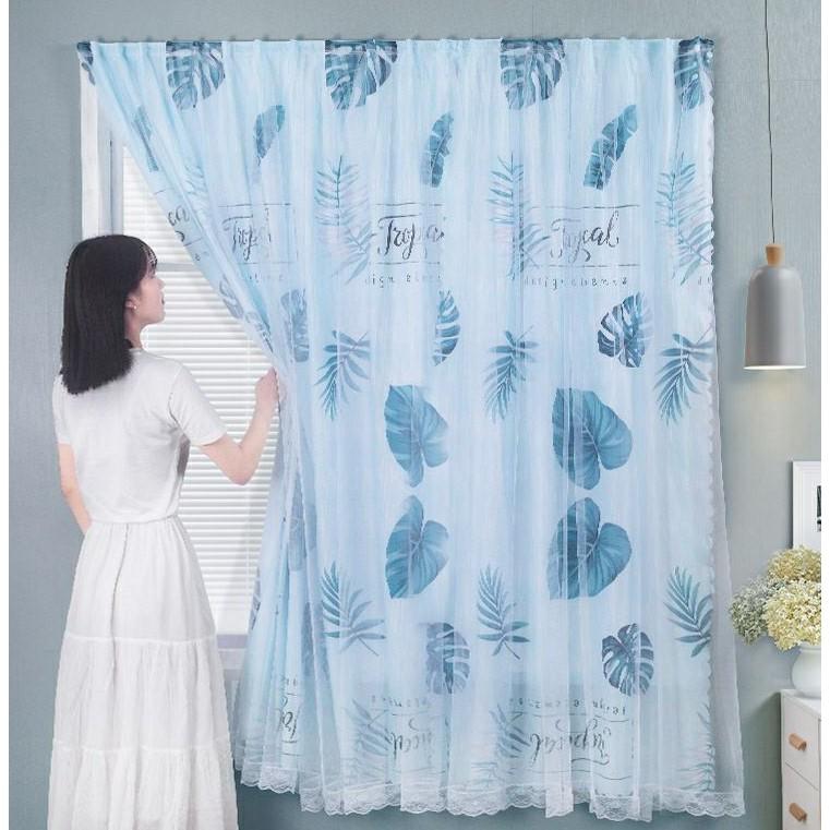 [Sẵn] Rèm cửa dán tường chống nắng, rèm cửa dán trang trí cửa sổ - phòng khách dễ dàng lắp đặt không khoan đục L