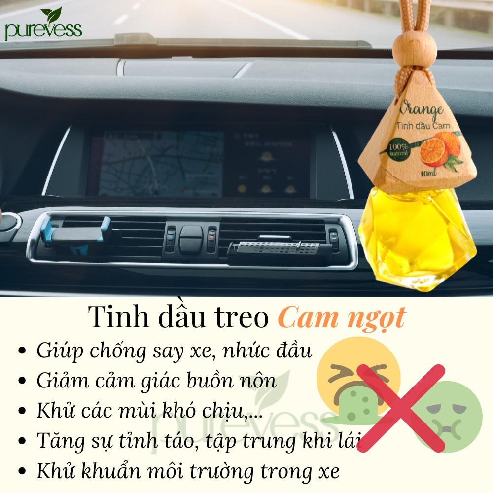 Tinh dầu treo xe ô tô Purevess - giúp khử mùi xe hơi, làm thơm phòng, thư giãn, đuổi muỗi (8 mùi chọn lựa)