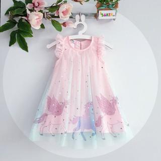 Đầm pony công chúa voan đẹp cho bé gái (size 1-14 từ 8-40kg)