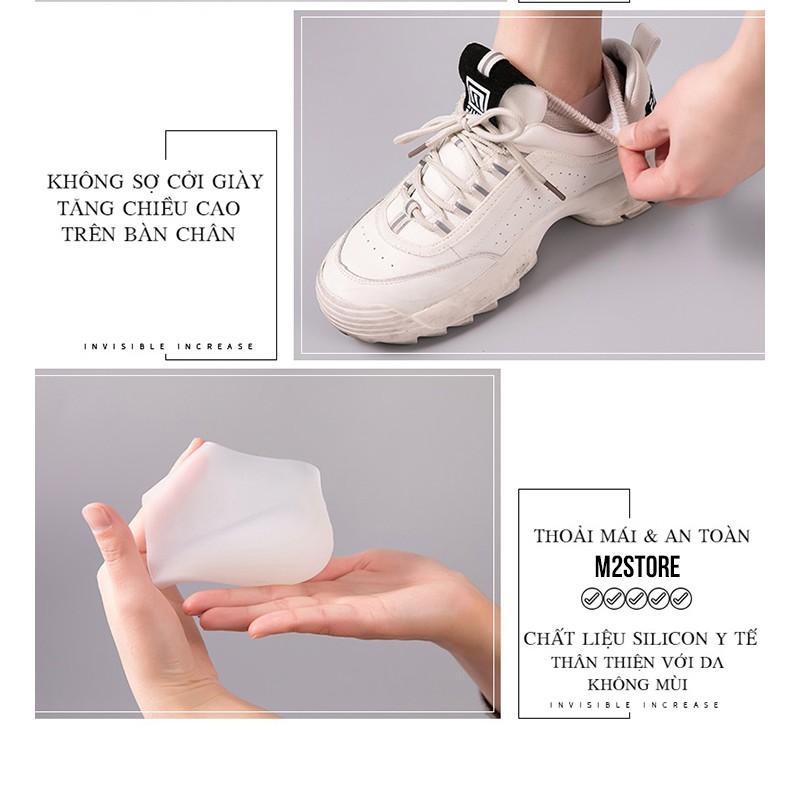 Cặp đệm gót chân tăng 3cm chiều cao silicon chống trượt  Tất độn gót chân tăng chiều cao bí mật của các siêu sao