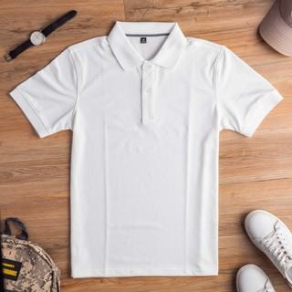 Áo thun Polo nam SHINO có cổ tay ngắn chất vải cá sấu co giãn 4 chiều trẻ trung thanh lịch trắng