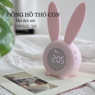 ❤️ FREE SHIP 😍 Đồng hồ báo thức đa chức năng thỏ con dễ thương(hàng có sẵn).