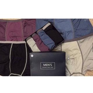 Hàng mới Hộp 4 quần sịp đùi thông hơi Men's cho nam