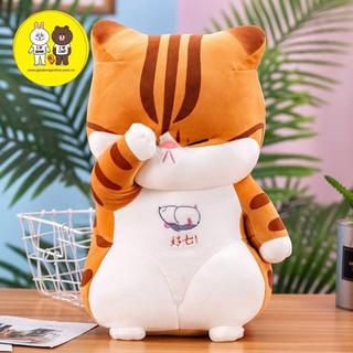 Gấu bông Mèo thần tài - Mèo dụi mắt vải nhung mịn cao cấp - Xưởng gấu bông Việt Nam thumbnail