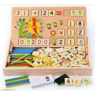 Bảng học toán thông minh bằng gỗ cho bé yêu