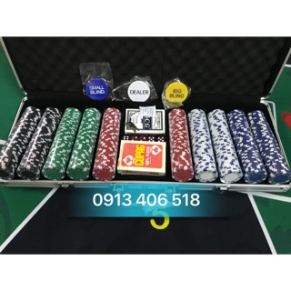 Phỉnh poker 500 chip loại không số hàng cao cấp