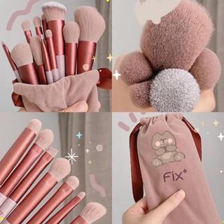 [ bộ 13 cây ] Cọ trang điểm Fix Hồng 13 Cây,bộ Cọ makeup Trang Điểm cá nhân kèm túi đựng MAA 5