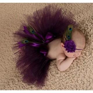 Newborn Baby Girls Tutu Skirt + Headband Costume Photography Photo Prop Outfits thumbnail