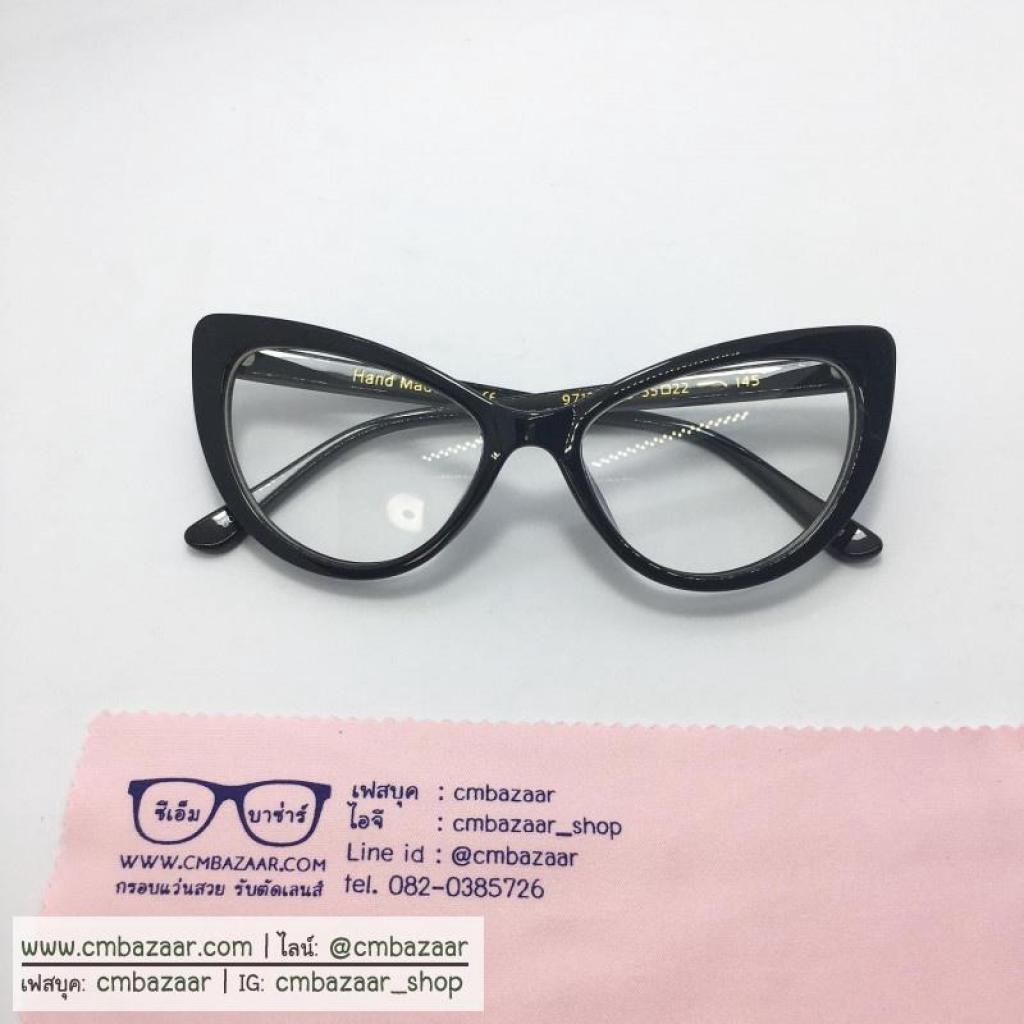 CMbazaar cateye glasses กรอบแว่น่ตา ทรงแคทอาย เฉี่ยว เอาไปตัดเลนส์เองได้ (เลนส์ใสกัน uv400)Mbazaar cateye glasses กรอบแว