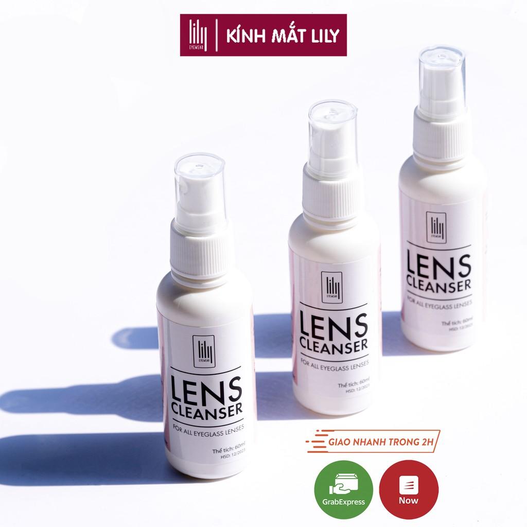 Nước xịt rửa mắt kính LILYEYEWEAR chuyên dụng 60ml
