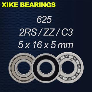 XIKE 625-2RS/ZZ/Open/C3 – Size 5x16x5mm High Quality Deep Groove Ball Bearings 625-2RS/625ZZ/625/625-2RSC3/625ZZC3/625C3