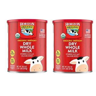 Combo 2 hộp sữa Horizon Organic Instant Dry Whole Milk 870 gram – sữa tươi hữu cơ dạng bột (Hàng Mỹ)