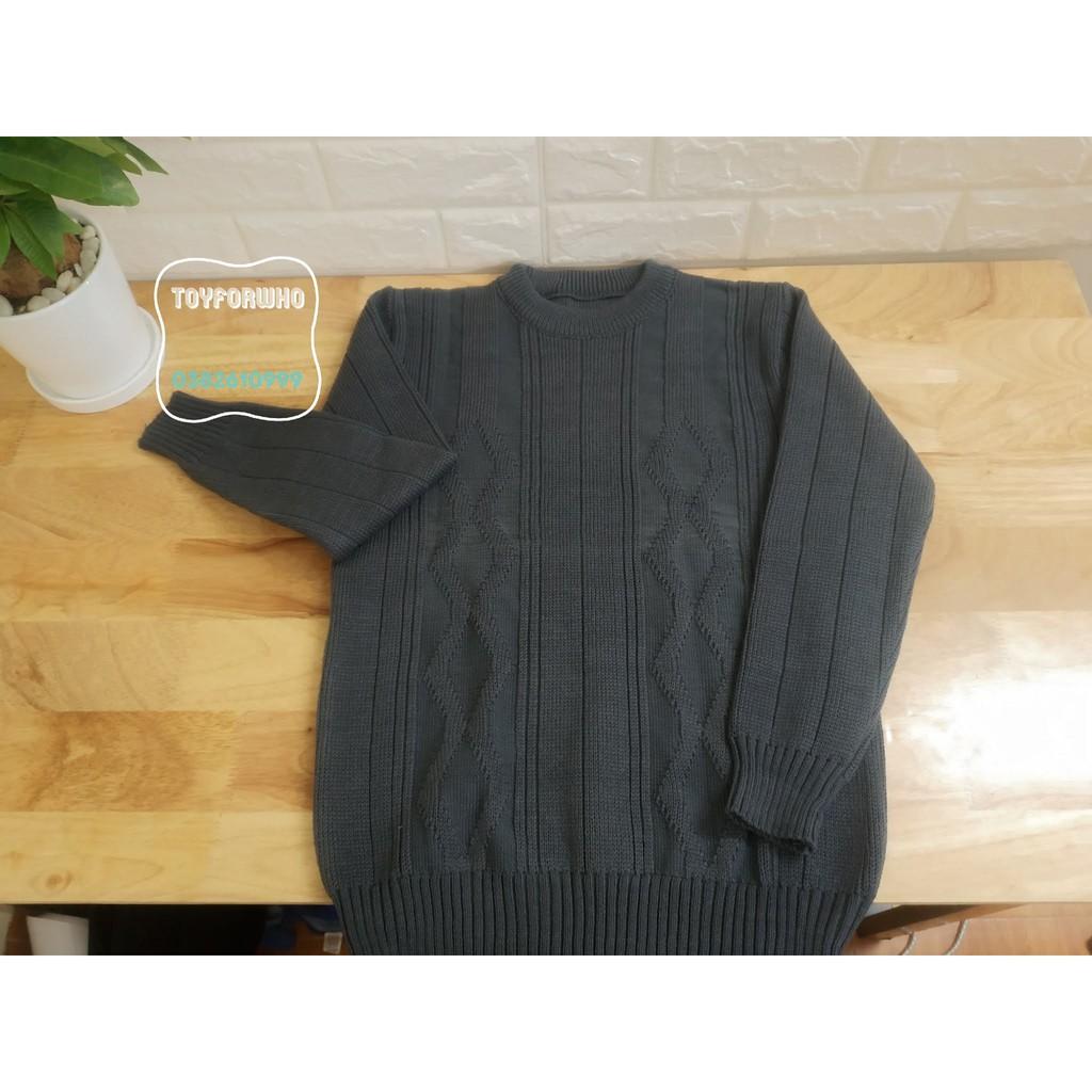 Combo 3 áo len cổ tròn NAM trung niên, người lớn tuổi cho bố - Made in VN