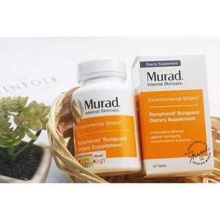 [Date 2022] Viên uống chống nắng nội sinh, làm khỏe da Murad Pomphenol Sunguard Dietary Supplement