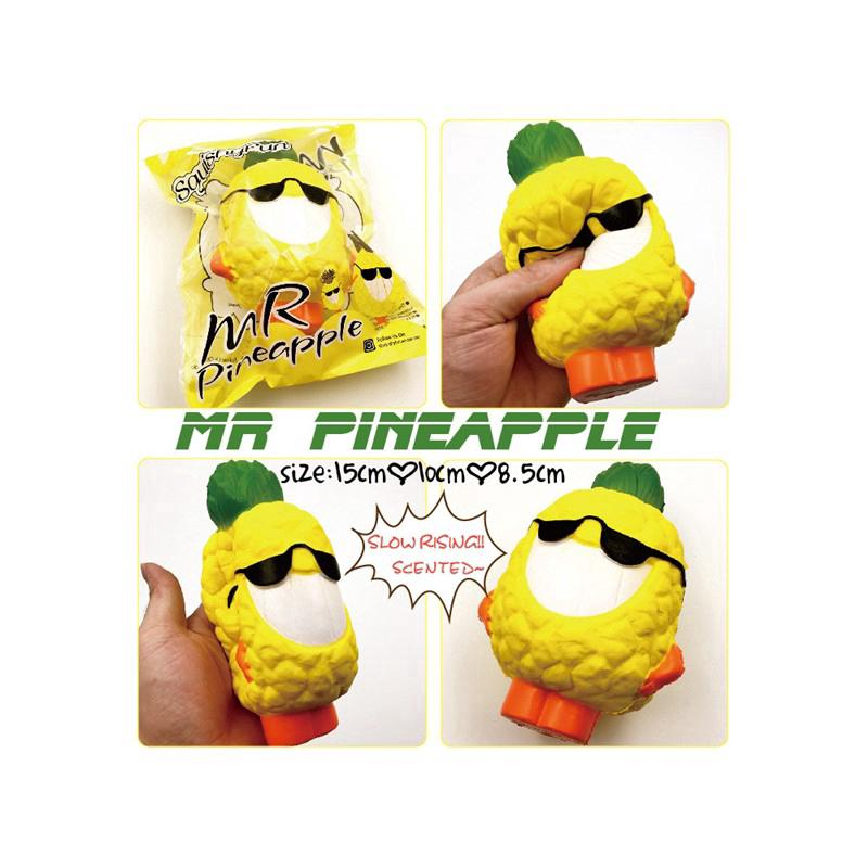 Slow rebound toy pineapple squishy pineapple Squishy Toy fruit scented toy JM