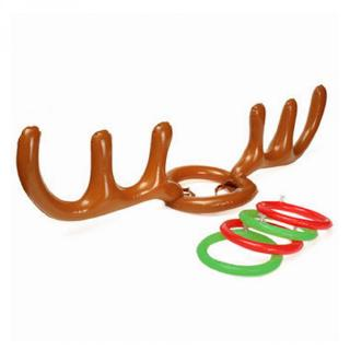 Antler Reindeer Hat Christmas Party Game Ring Inflatable Toss Holiday Toys