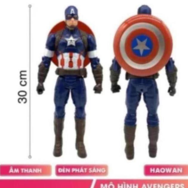Đồ chơi mô hình 12 nhân vật siêu anh hùng Avengers có nhạc và đèn