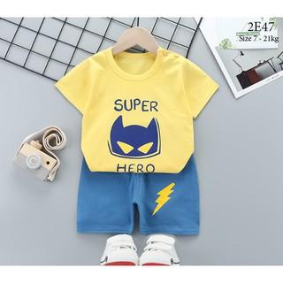 Set bộ quần áo cộc tay cho bé trai bé gái (từ 1 - 8 tuổi) VEMZKIDS 7 mẫu hình thumbnail