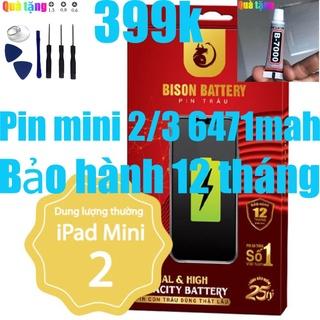 Pin iPads mini 2, Pin iPads mini 3 Bison 6471mah, bảo hành 12 tháng thumbnail