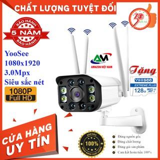 [Tặng thẻ nhớ 128G] camera yoosee ngoài trời 1080p 4 Râu 3.0 Mpx full hd 1080 ban đêm có màu