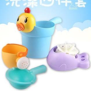 ✉♂Bộ đồ chơi tắm trẻ em trong nước, bình xịt, vòi hoa sen, trai và gái, cốc gội đầu cho bé, bãi nước