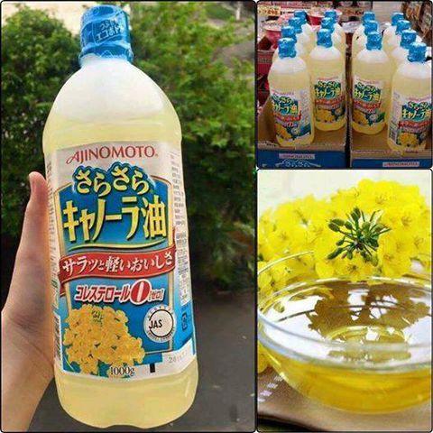 Dầu ăn hạt cải Ajinomoto Nhật Bản (Date 10/2021)