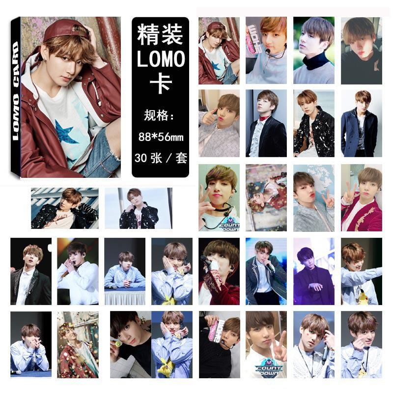 Hộp 30 ảnh lomo card Jungkook nhóm BTS#