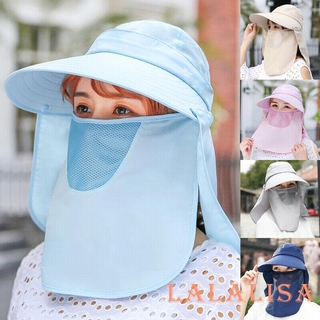 ☀POP☁Women Sun Hats with Face Neck Cover Shawl UV Protection Hat cap