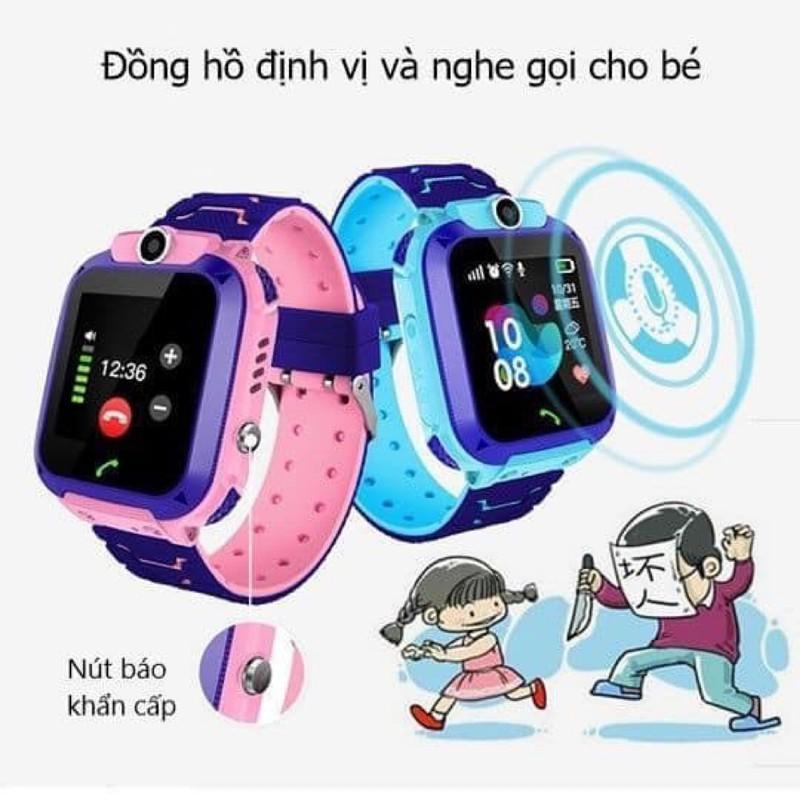 Đồng Hồ Thông Minh Định Vị Trẻ Em Q12CAO CẤPSmart Watch Nghe Gọi, Camera - Vòng Tay Chống Nước Tiện Lợi