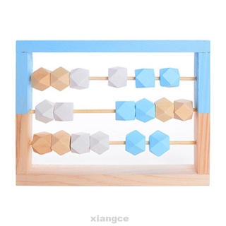 Study Educational Portable Nordic Style Rectangle Preschool Kids Toddlers Math Learning Counting Tool Wooden Abacus Toy