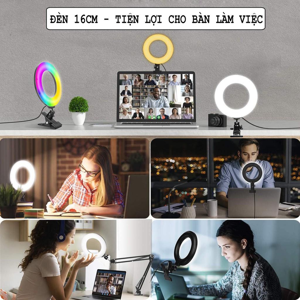 Đèn led 16 triệu màu quay TIKTOK, Đèn livestream 16CM,20CM,26CM,33CM mới nhất thị trường ĐÈN LED TIKTOK.- 72 màu sắc