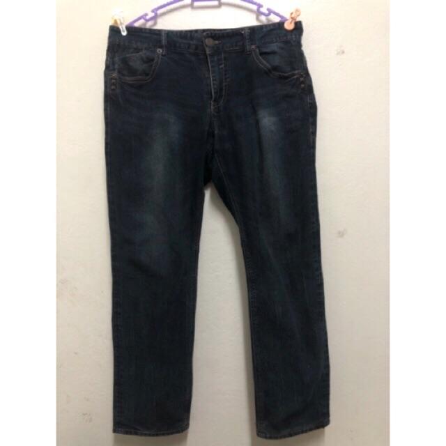 กางเกงยีนส์แบนด์ Get Used เอว 36-38 สะโพก 44-46 ยาว38-39  ผ้าดีหนา ยืด