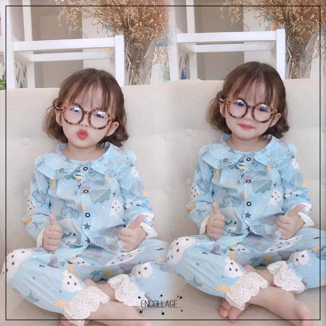 Bộ dài tay pijama QATE385 dễ thương cho bé gái