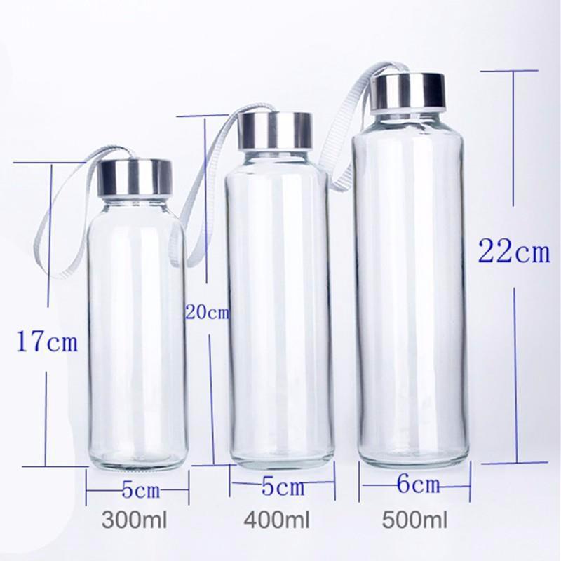 Bình detox thủy tinh 300 và 500ml - Bình nước thủy tinh có quai xách