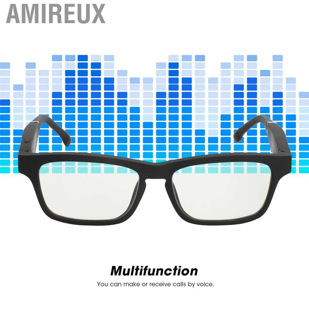 Amireux K1 Multifunctional Bluetooth 5.0 Smart Glasses for Voice Dialing and Answering Call Driving Office