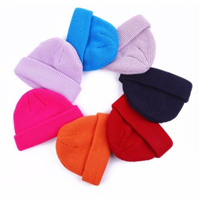 Mũ len beanie trơn unisex nhiều mầu lựa chọn