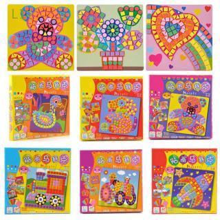 L1 6pcs/box Imagination Kids Game Early Educational DIY Kits Arts Craft 3D Mosaics Puzzle