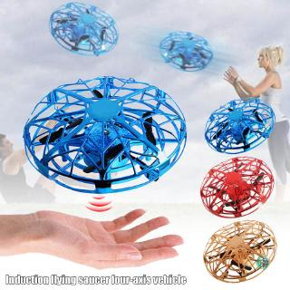 Ready Stock Mini Drone Quadcopter Induction Levitation UFO LED Light USB Charging Gift for Children @vn